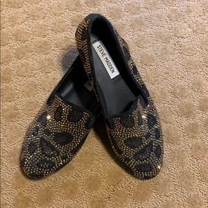 Leopard Crystal Loafers